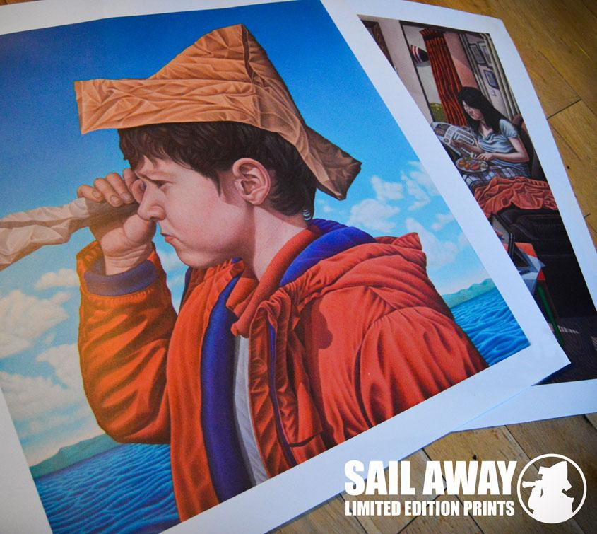 Sail Away limited edition Giclee prints