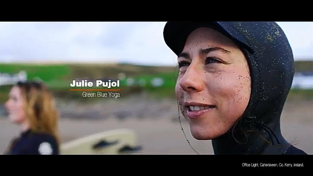 Julie Pujol Green Blue Yoga instructor